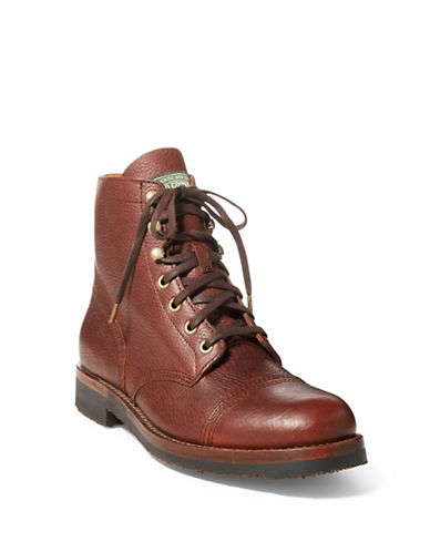 Polo Ralph Lauren Rugged Leather Boots-BROWN-8.5
