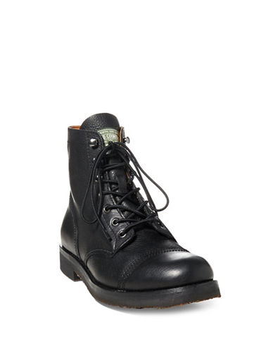 Polo Ralph Lauren Rugged Leather Boots-BLACK-7