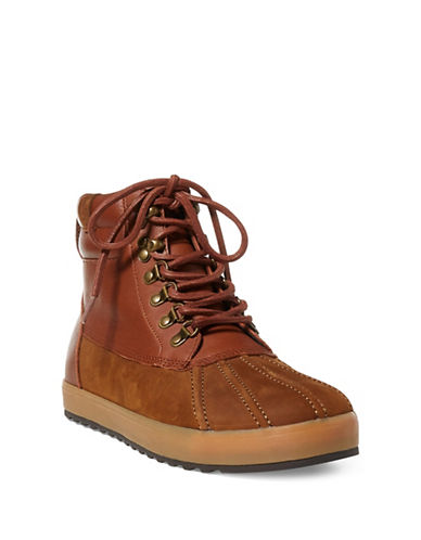 Polo Ralph Lauren Leather Sneaker Boots-TAN-11