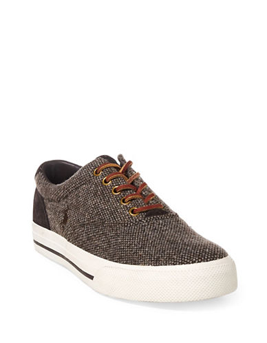 Polo Ralph Lauren Vaughn Donegal Sneakers-BROWN-10