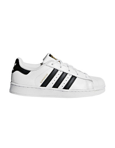 Adidas Kids Superstar Leather Low-Top Sneakers-WHITE-12 89767213_WHITE_12