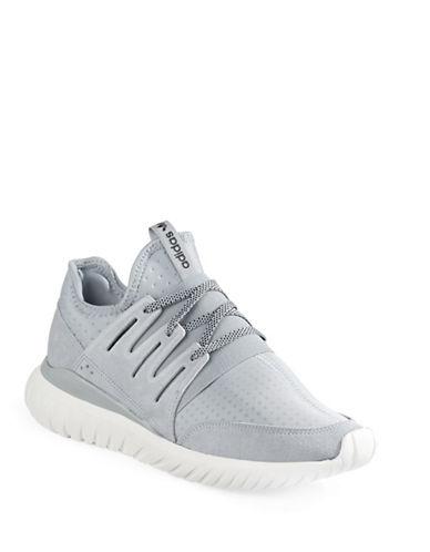 Adidas Tubular Radial Sneakers-WHITE/GREY-9.5 88458566_WHITE/GREY_9.5