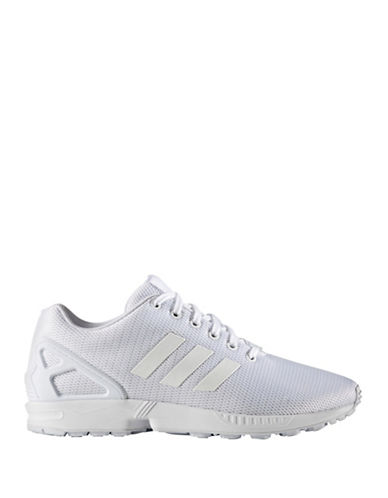 Adidas Originals Mens ZX Flux Sneakers-WHITE-8.5