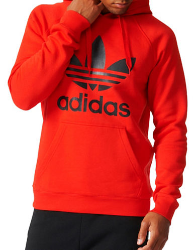 Adidas Originals Trefoil Hoodie-RED-X-Large 89036224_RED_X-Large