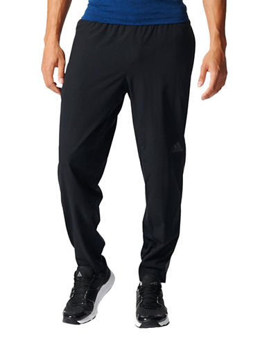 Adidas Climacool Woven Workout Pants-BLACK-Large