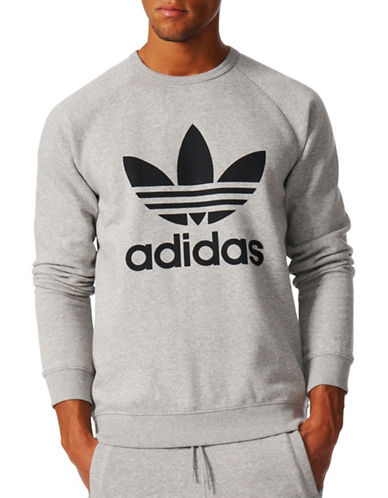 Adidas Originals Trefoil Sweatshirt-GREY-Large 89378560_GREY_Large