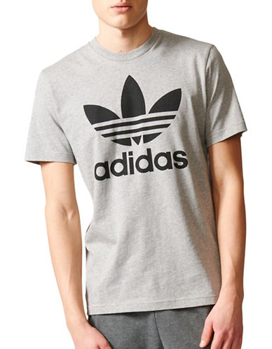 Adidas Trefoil Cotton T-Shirt-GREY-Large 89599249_GREY_Large