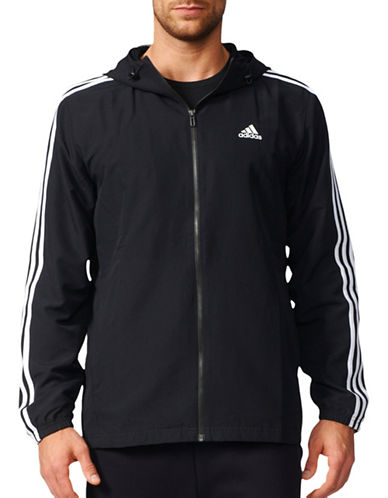 Adidas Woven Stanford Hooded Jacket-BLACK-Small 89036331_BLACK_Small