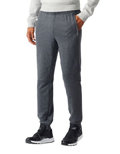 Adidas Tapered Workout Pants-GREY-Large