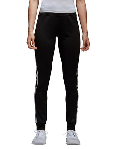 Adidas Three-Striped Training Pants-BLACK-X-Small