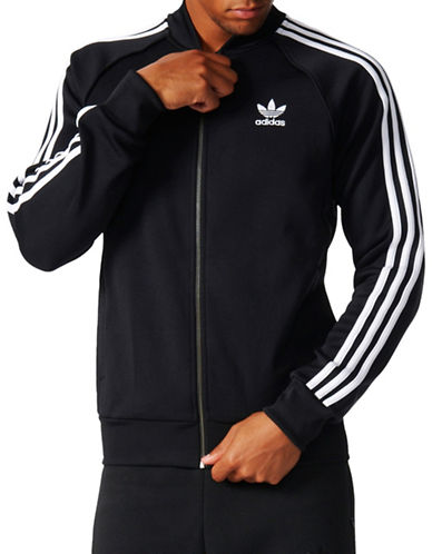 Adidas Superstar Track Jacket-BLACK-Large