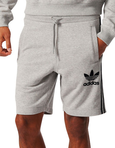Adidas CLFN French Terry Shorts-GREY-Medium
