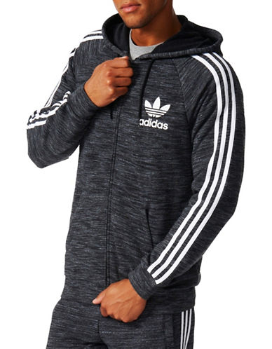 Adidas 3-Stripes Zip Hoodie-BLACK-X-Large 88905326_BLACK_X-Large