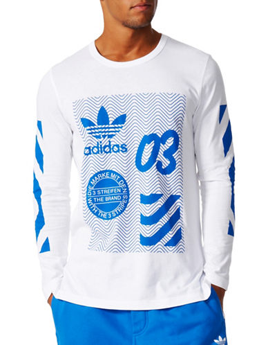 Adidas Originals NYC Printed Tee-WHITE-X-Large 89036174_WHITE_X-Large