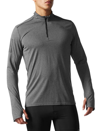Adidas Response Track Sweatshirt-GREY-Small