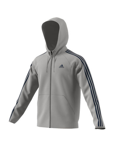 Adidas Fleece Tech Hoodie-GREY-Large 88908157_GREY_Large