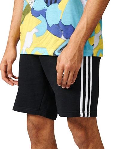 Adidas CLFN French Terry Shorts-BLACK-Large 89200878_BLACK_Large