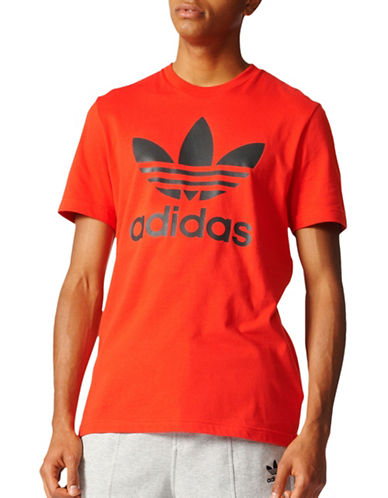 Adidas Original Trefoil Tee-RED-Medium 89036257_RED_Medium