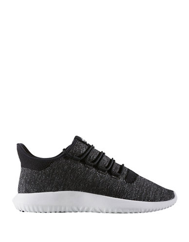 Adidas Originals Mens Tubular Shadow Knit Sneakers-BLACK-7
