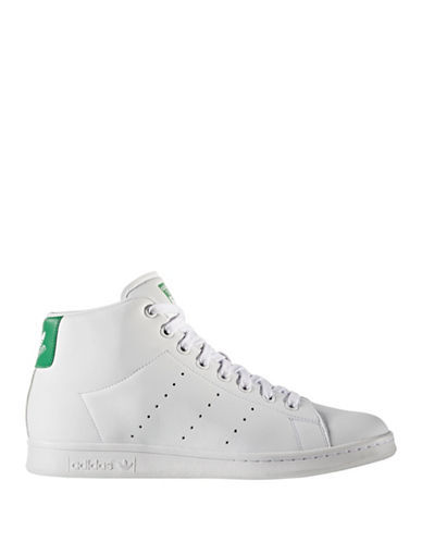 Adidas Originals Stan Smith Mid-Top Sneakers-WHITE-10.5