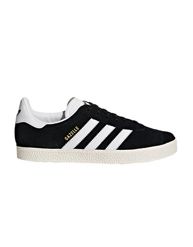 Adidas Gazelle J Lace-Up Sneakers-BLACK-6