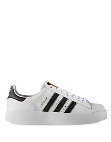 Adidas Womens Superstar Bold Platform Shoes-WHITE-9