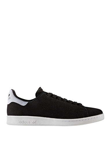 Adidas Originals Mens Stan Smith Knitted Sneakers-BLACK-8