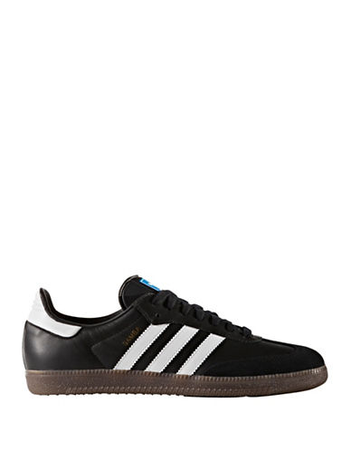 Adidas Originals Samba Leather Low-Top Sneakers-BLACK-8