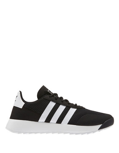 Adidas Womens Lace-Up Leather Sneakers-BLACK-8.5