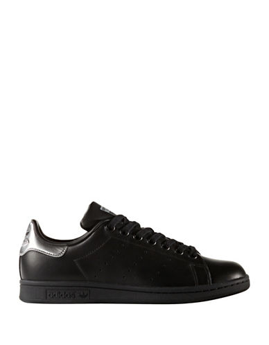 Adidas Womens Stan Smith Metallic Sneakers-BLACK-8.5