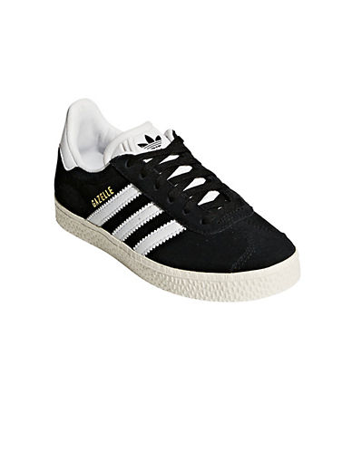 Adidas Gazelle Low Top Sneakers-BLACK-2