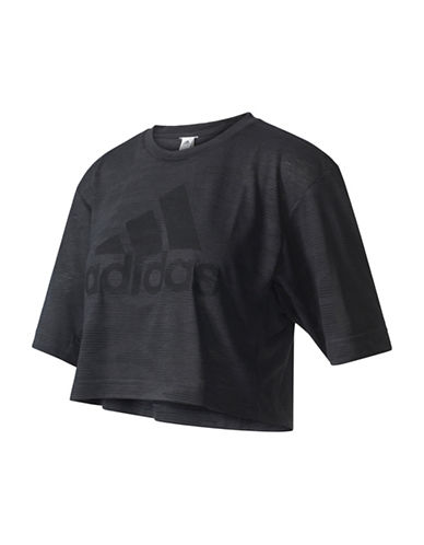 Adidas Aeroknit Boxy Cropped Tee-BLACK-Large 88886751_BLACK_Large