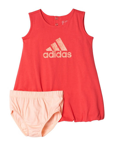 Adidas Training Summer Dress-CORAL-9 Months