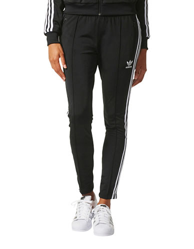 Adidas Signature Stripe Trackpants-BLACK-X-Large