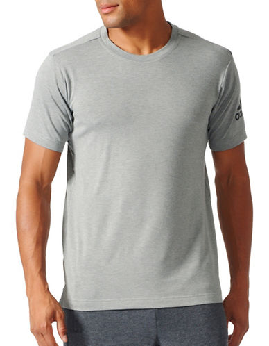 Adidas FreeLift Prime T-Shirt-GREY-Small