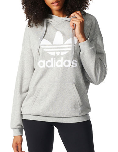 Adidas Trefoil French Terry Hoodie-GREY-X-Large 89236516_GREY_X-Large