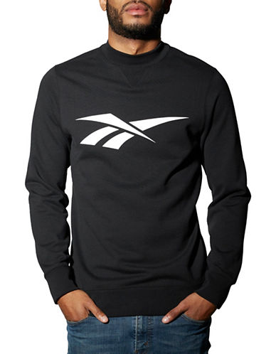 Reebok Colorblock Archive Retro Crewneck T-Shirt-BLACK-X-Large 89027186_BLACK_X-Large