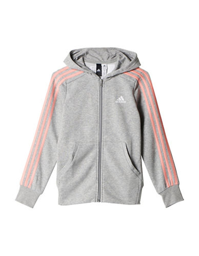 Adidas Essentials 3-Stripes Hoodie-GREY-X-Large 89146309_GREY_X-Large