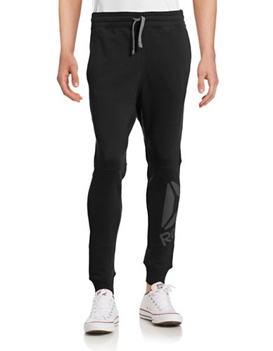 Reebok Workout Ready Big Logo Jogger Pants-BLACK-Small