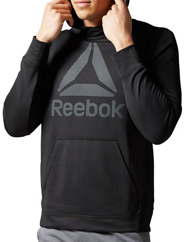 Reebok Workout Ready Warm Fleece Hoodie-BLACK-Large