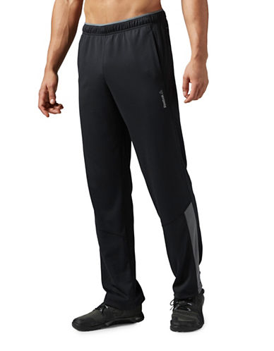 Reebok Workout Ready Open Hem Knit Pants-BLACK-Large 88778523_BLACK_Large