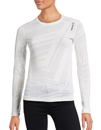 Reebok Long-Sleeve Training T-Shirt-WHITE-Large 88563577_WHITE_Large
