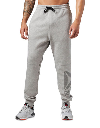 Reebok Workout Ready Big Logo Pants-GREY-XX-Large 88431247_GREY_XX-Large