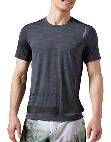 Reebok Short-Sleeve Athletic T-Shirt-GREY-Large 88654167_GREY_Large