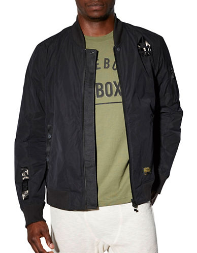 Reebok Combat Training Bomber Jacket-BLACK-Large