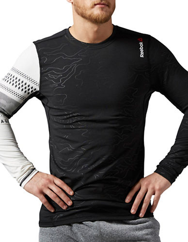 Reebok Thermal Comp Long Sleeve Top-BLACK-Medium 88765226_BLACK_Medium