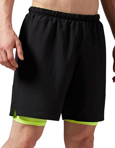 Reebok Two-in-One Active Short-BLACK-X-Large 88654183_BLACK_X-Large