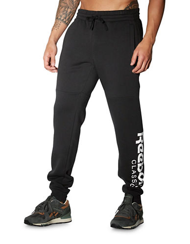 Reebok Fleece Graphic Sweatpants-BLACK-Medium 88512956_BLACK_Medium