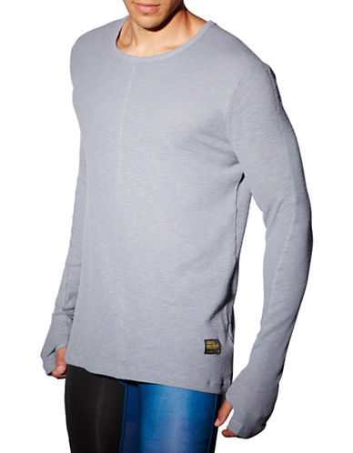 Reebok RNF Long Sleeve Thermal Top-GREY-Medium 88512909_GREY_Medium
