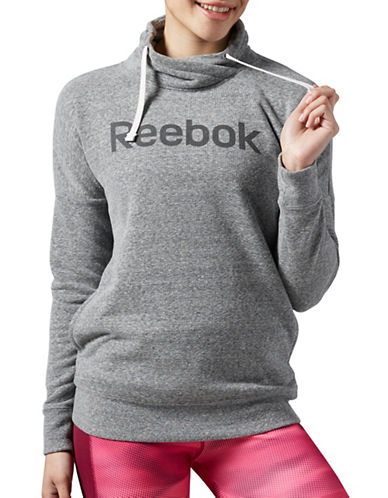 Reebok Elements Logo Cowl Neck Sweatshirt-BLACK-X-Large 88702262_BLACK_X-Large